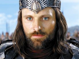 Viggo Mortensen como Aragorn en un fotograma de la película El Señor de los Anillos.