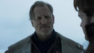 Tobias Beckett interpretado por Woody Harrelson en Han Solo: Una historia de Star Wars