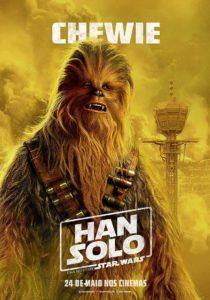Póster promocional de Chewbacca en Han Solo: Una historia de Star Wars.