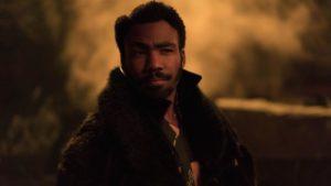 Lando Calrissian interpretado por Donald Glover.