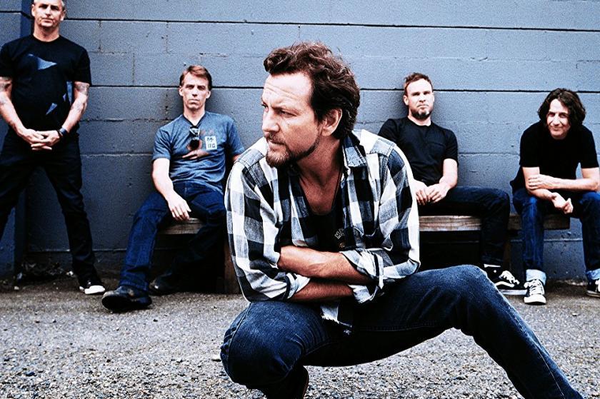 Imagen promocional de la banda Pearl Jam.