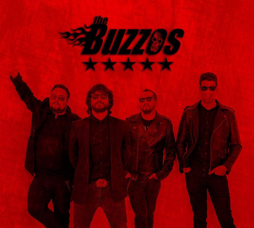 Imagen promocional de la banda extremeña de rock The Buzzos.