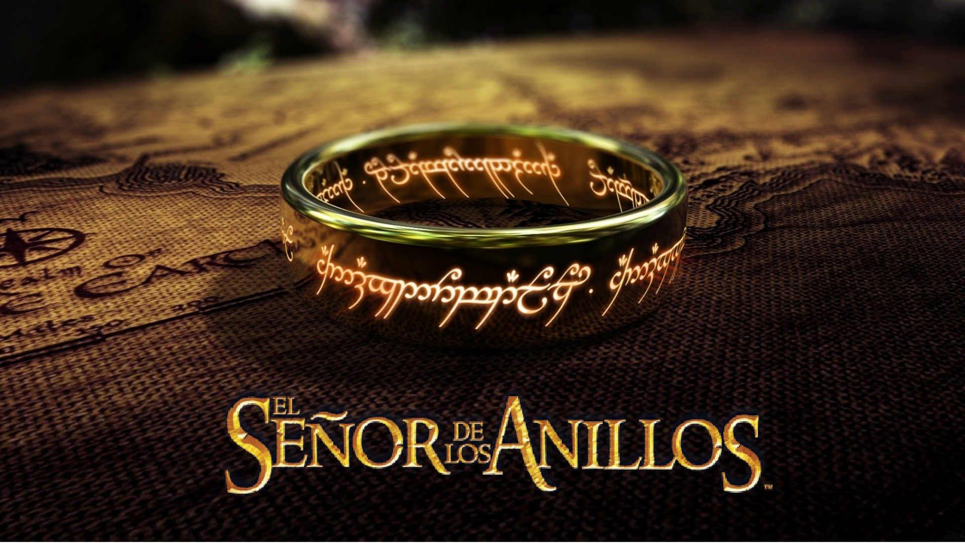 Anillo único de El Señor de los anillos.