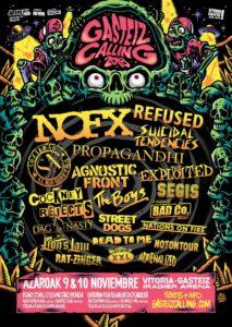 Cartel definitivo del festival Gasteiz Calling de 2018