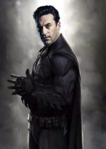 Montaje en el que Jon Hamm aparece como Batman