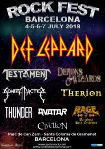 Primeras confirmaciones Rock Fest Barcelona 2019. Avance de cartel.