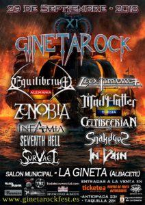 Cartel definitivo del festival Ginetarock de 2018