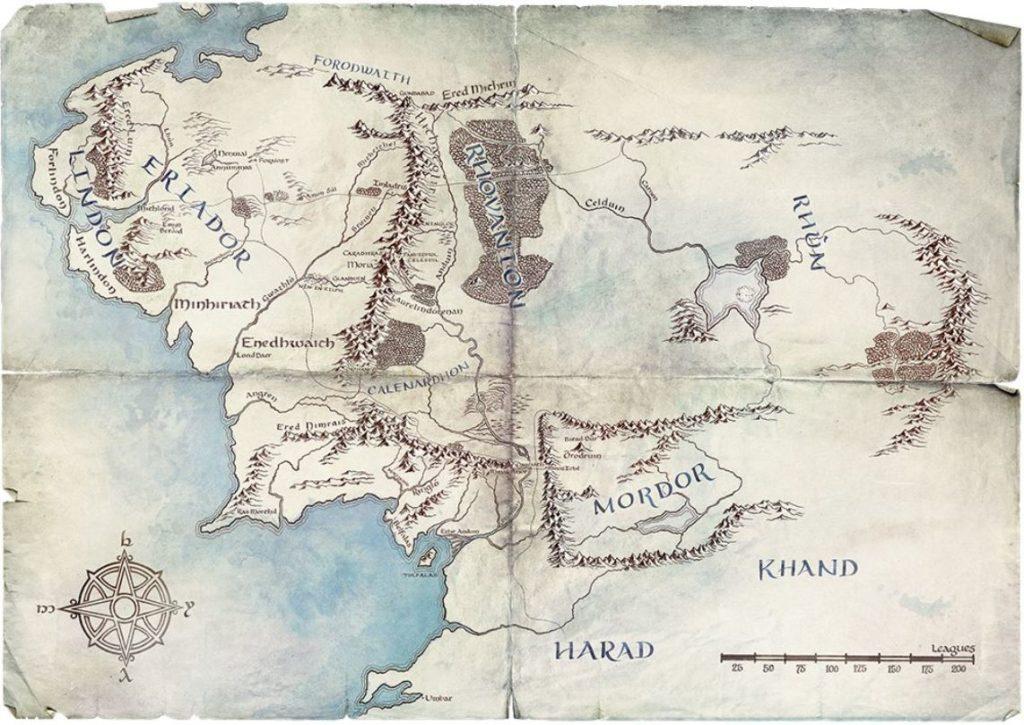Mapa 4 serie el señor de los anillos.