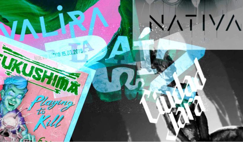 Collage con los logos de los grupos formados por excomponentes de La Raíz