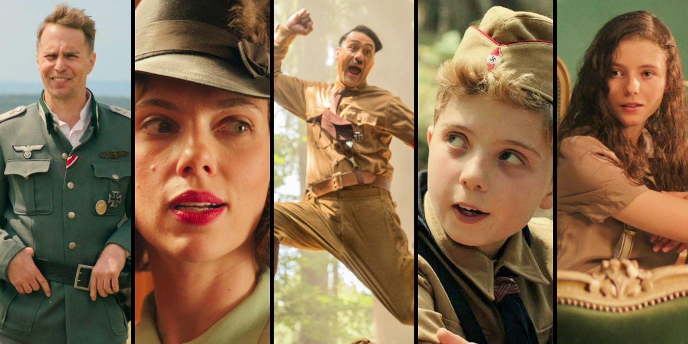 Collage con imágenes de los protagonistas de JoJo Rabbit