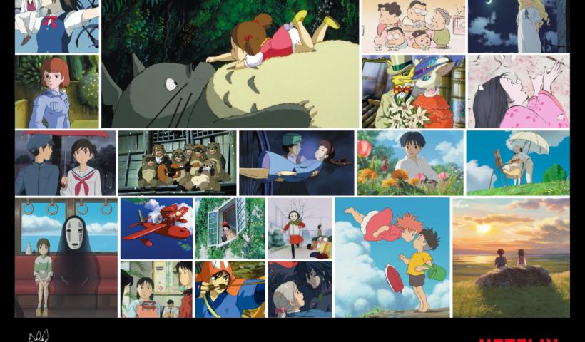 Collage con varias películas de Studio Ghibli