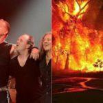 Metallica dona 750.000 dolares en apoyo a Australia por los incendios