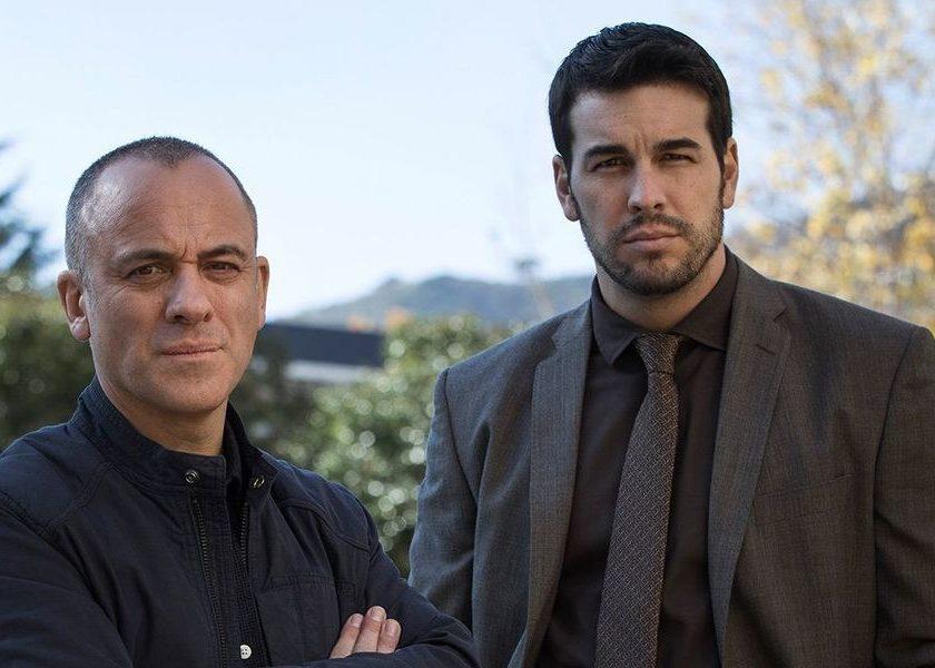 Javier Gutiérrez y Mario Casas en Hogar
