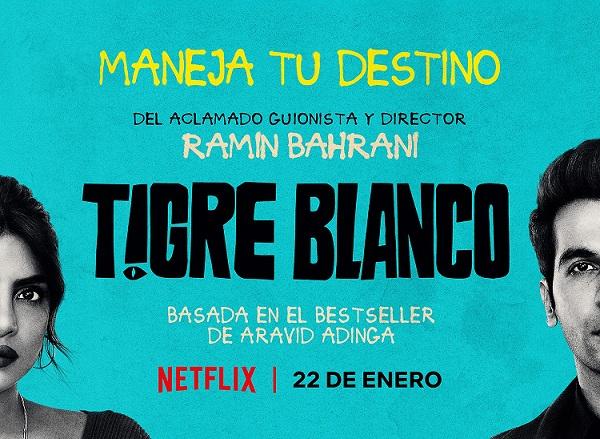 Poster de la película Tigre blanco. White tiger film poster